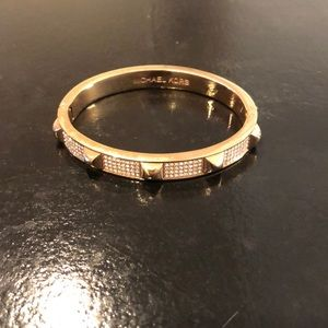 Gold Michael Kors studded crystal bracelet
